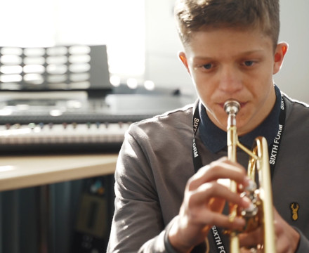 Sixth Form student in Music department