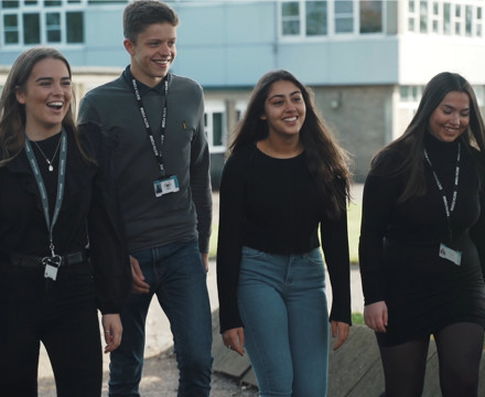 Four Sixth Form students 2020