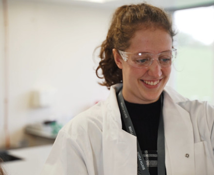Sixth Form students studying chemistry