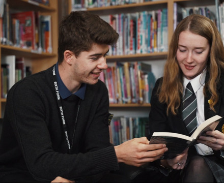 Sixth Form student in library