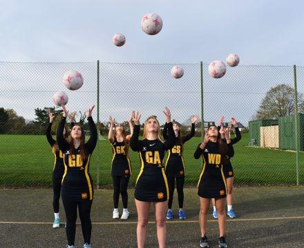 Netball Academy Team Photo 2021 throwing ball