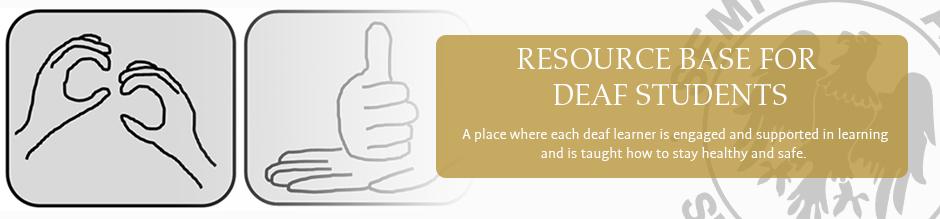Resource base for deaf students website banner