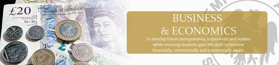 Business and economics website banner