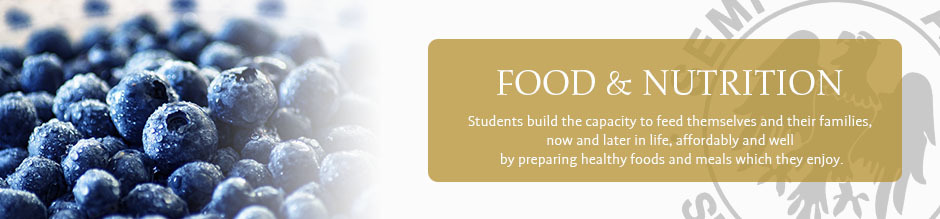 Food and nutrition website banner