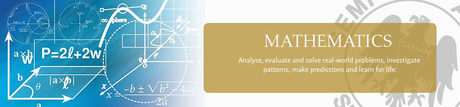 Maths website banner